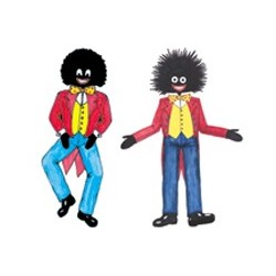 Golliwogs 100mm (4 SETS OF 2 ) A4