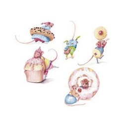 Party Mice size 1(1 set of 5)