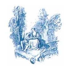 *** SALE 50% OFF *** Toile Bleu 75x75mm motif A