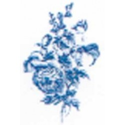 Toile Bleu 100x65mm Motif F(6)