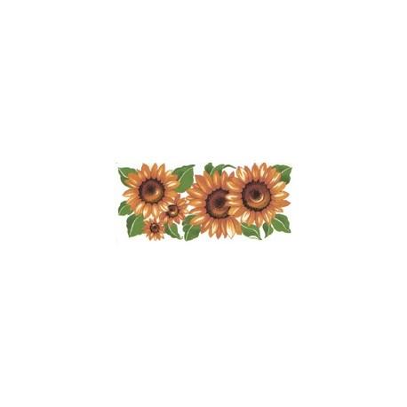 GOLDEN SUNFLOWERS 187X84MM (6)