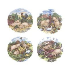 PIGGIES (set of 4)