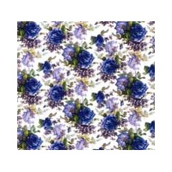 SANDO ROSE BLUE SMALL CHINTZ - clear background
