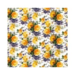SANDO ROSE YELLOW SMALL CHINTZ - clear background