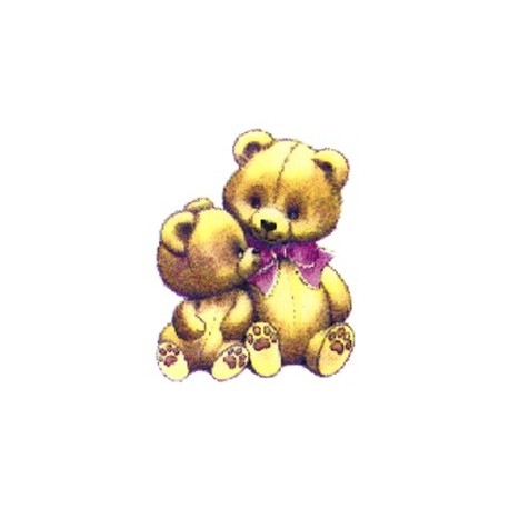 TEDDY BEARS PINK BOW 25mm (30)