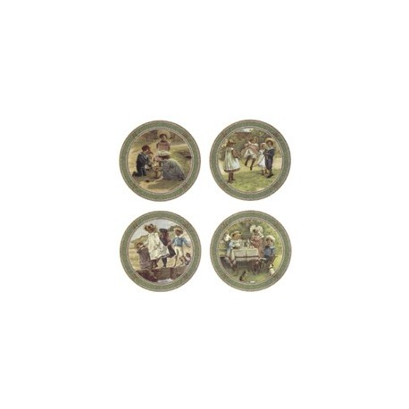 VICTORIAN CHILDREN PLAQUE (SET OF 4)