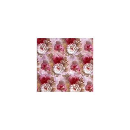 Soft Rose Chintz White & Pink