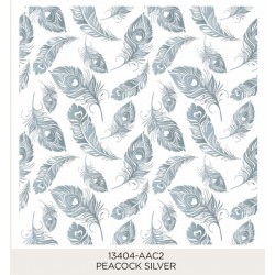 Peacock Silver 185x185mm (28)