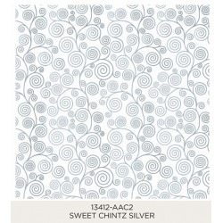 Sweet Chintz Silver 185x185mm