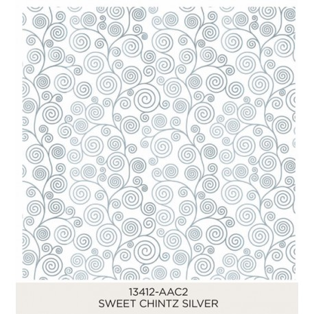 Sweet Chintz Silver 185x185mm