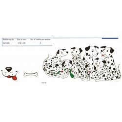 SPOTTY DOGS 178X85MM (5 SETS OF 3)