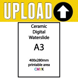 CUSTOM CERAMIC CMYK DIGITAL DECAL 780º-820ºC A3