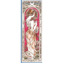 ART NOUVEAU PANEL 45X15MM BURGUNDY LEFT