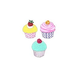 Cupcakes - set of 3 50mm (12)